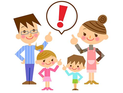 塗装時の注意点を指示する家族